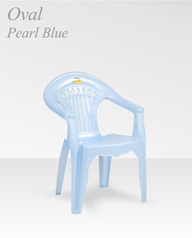 Oval Pearl Blue