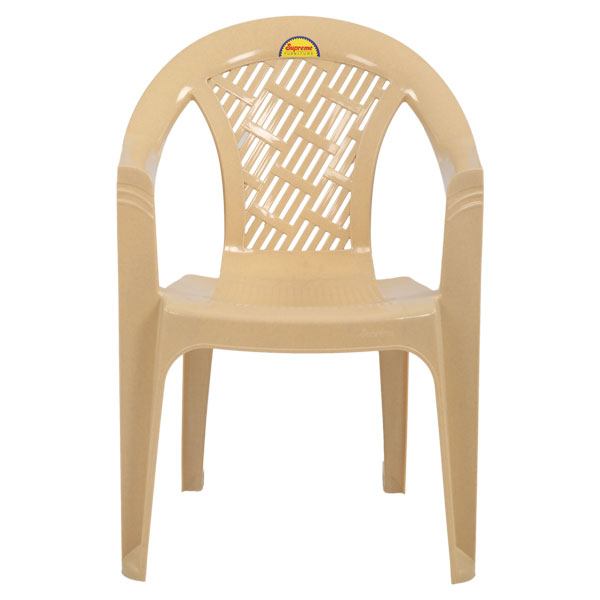 Stella Marble Beige Monoblock Chairs With Arm