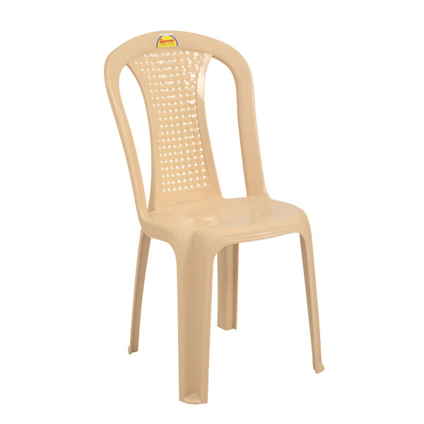 Dream Marble Beige Monoblock Chairs Without Arm