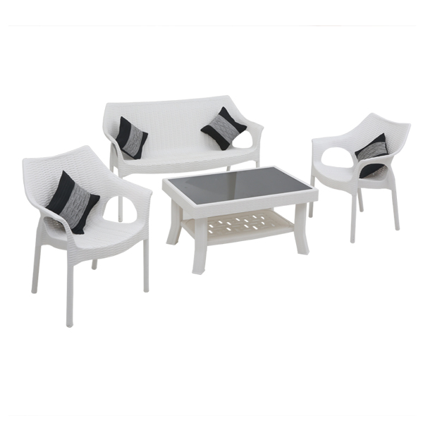 Love Seat with Vegas& Cambridge - white