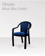 ornate black blue dobby