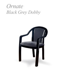 ornate black grey dobby