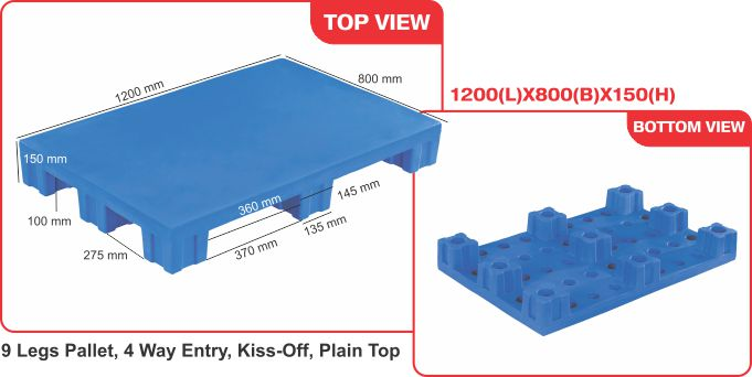 Roto moulded pallets