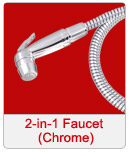 2 in 1 faucet chrome