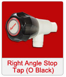 Right Angle Stop Tap O Black