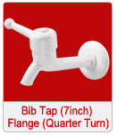 Bib Tap 7inch with Flange Quarter Turn