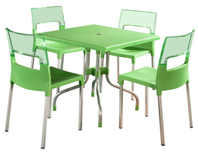 Dining chairs dining sets plastic dining chairs moulded for Set de table pvc
