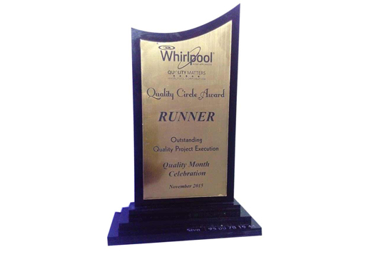 Puducherry Unit won Quality Circle Award 2015, from Whirlpool